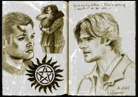 Supernatural sketchbook by Someone-Else79