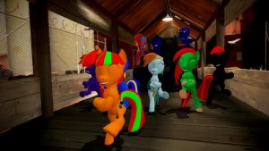 The newest weapon! RUSSIAN PONY CONGA! by TheProdigy100