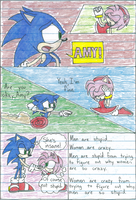 SonicXAmy Mini Comic by rinkunokoisuru