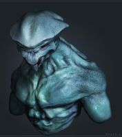Alien Bust Zketch01 by Akiratang