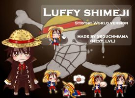 Luffy shimeji by Next--LVL