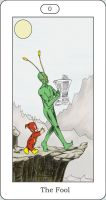 DC Tarot Card- 0 The Fool by AmberStoneArt