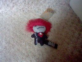Dark Dude's Voodoo Doll Plush 1 Fluffy red hair by ButchxButtercup1996