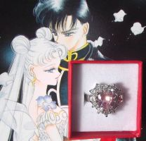 Usagi Tsukino engagement ring Sailor Moon by KawaiiMoon24
