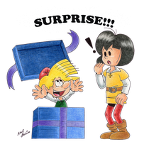 Johan and Peewit: Surprise!!! by Kiss-the-Iconist