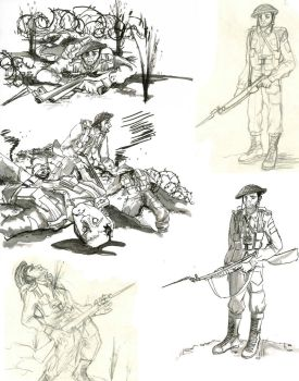 Soldiers doodles by lionheartfreedom