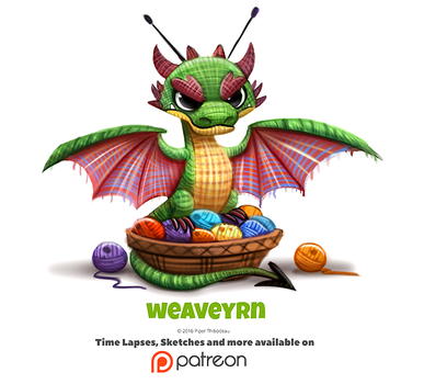 Daily 1342. Weaveyrn by Cryptid-Creations