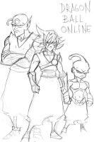 Dragon ball online races sketch by Mailus