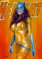 hellcat marvel 70th card 12 by charles-hall