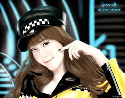 SNSD MR. TAXI Jessica painting by Shinycake