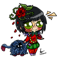 Chibi with tangrowth by SilveronWolf