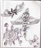 Tattoo designs by froggyweirdo