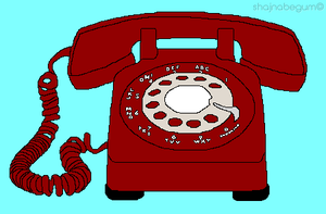MS Paint Red Telephone by creativeoaf