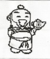 Chibi Uncle Iroh outline by Sew-Madd