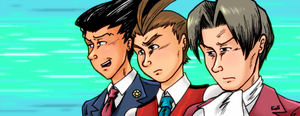 Phoenix Wright lineup - Ace Attornies GO! by Raax-theIceWarrior