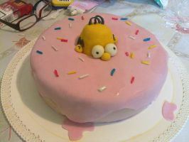 homer simpson cake by marypiccia