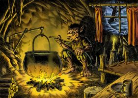 Cave Troll 2 by HarHon