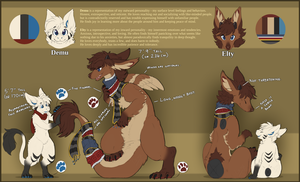 Demu and Elty Avalis Reference Sheet 2016 by InkyDemu