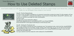How to Use Deleted Stamps by stamp-album