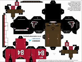 Roddy White Falcons Cubee by etchings13