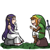 Link and Hilda by Zeepla