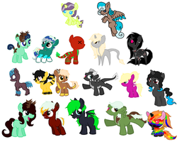 Unsold Ponies  Adoptables (CLOSED) by CuppieCakeAdopts