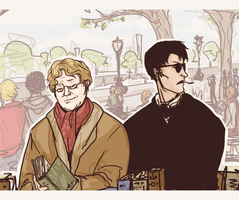 good omens fanart by ormery
