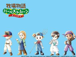 Harvest Moon wallpapers 2 by Lunatia