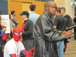 Nick Fury and Spiderman by Verlerious