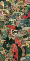 Harley Quinn Comic Collage by flukiechic