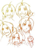 Edward Elric Sketchiness by jokerjester77