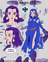 Raven character design by AmethystSadachbia