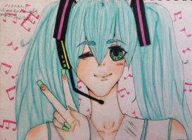 miku drawing! by miku22