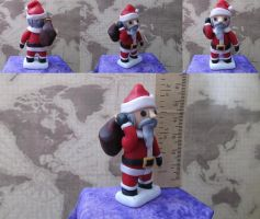 Santa Claus Polymer Clay Sculpture by damnheliotrope