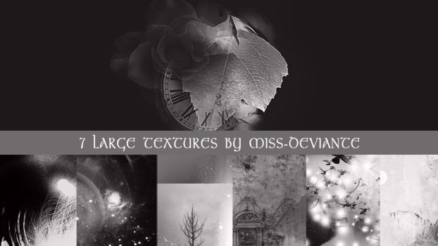 7 Large Textures by Miss-deviantE