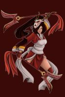 Akali Blood Moon Commissioned design by JulietEssence