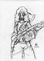 Pinkie Pie as Pyro in TF2 (Sketch) by Masteryeah037