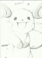 RAICHU drawing by Ami-Cat