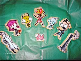 Invader Zim Cookies by RabidBallerina