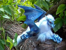 Crystal Frost Dragon Woodbaby by Dream-finder
