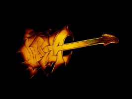 My Guitar Name Logo by JohnnySlowhand