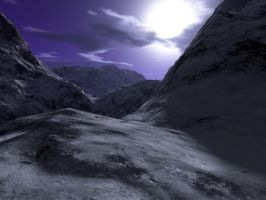 Alps At Night - EasyNow-3D by backgrounds
