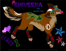 Shiveena the Sparkle Dog by Shara-Moonglow
