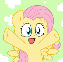 FlutterShy NYA by Pupster0071