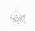Tepig skeleton by CaveLupa