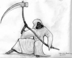 The White Robed Reaper by lord666belial