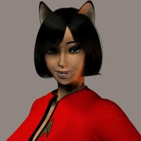 M'Chel close up in 3D by Groovygoddess