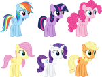 Teenage Mane Six by Magister39