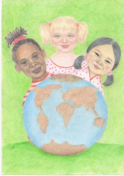 World for all / Colored pencils. by valakh