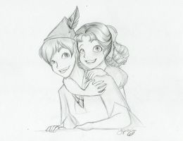 Peter and Wendy by SkeletonStockings